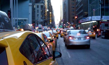 taxi dans les embouteillages